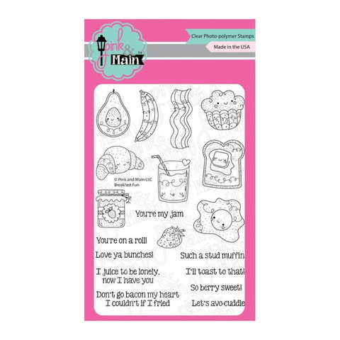 Pink & Main Clear Stamps 4x6inch - Breakfast Fun