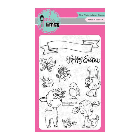 Pink & Main Clear Stamps 4x6inch - Sketched Easter