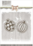 Find It Trading Precious Marieke Rustic Christmas Die Bauble Set