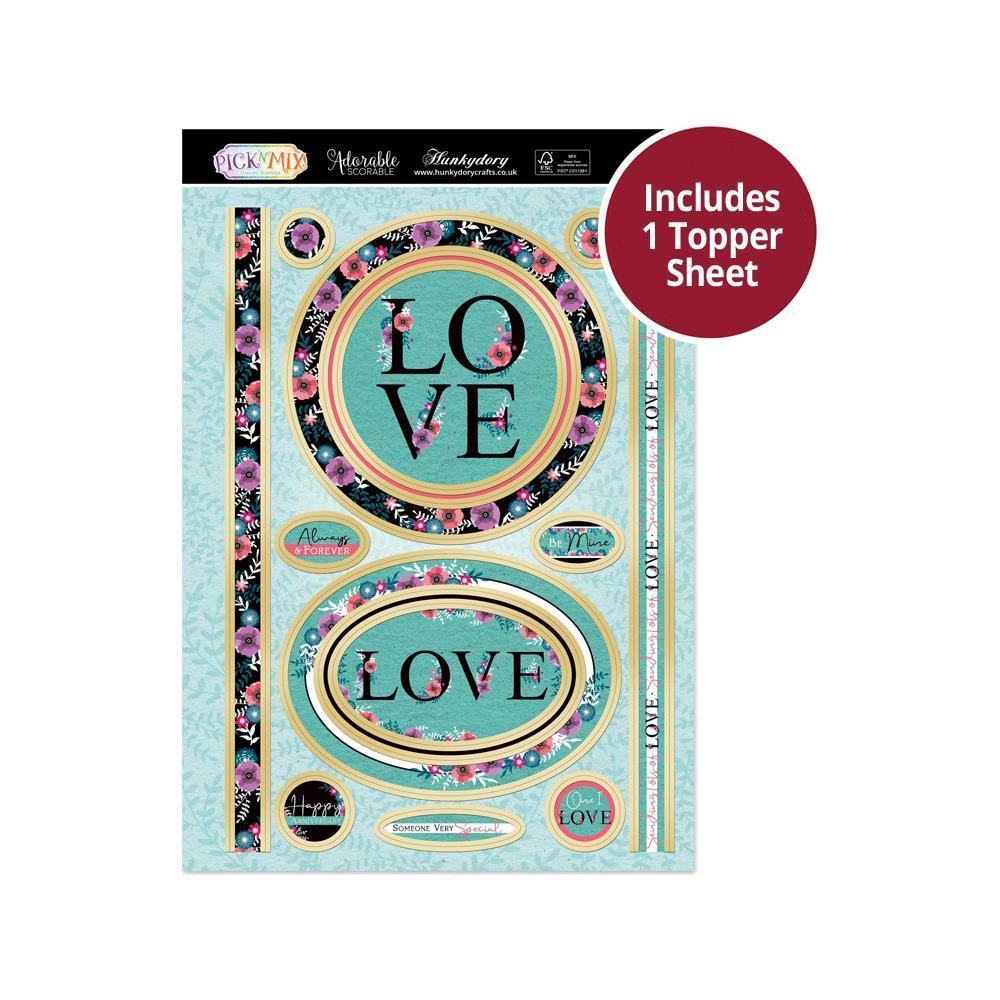 Hunkydory - Pick 'N' Mix - Luxury A4 Topper Set - Lots Of Love
