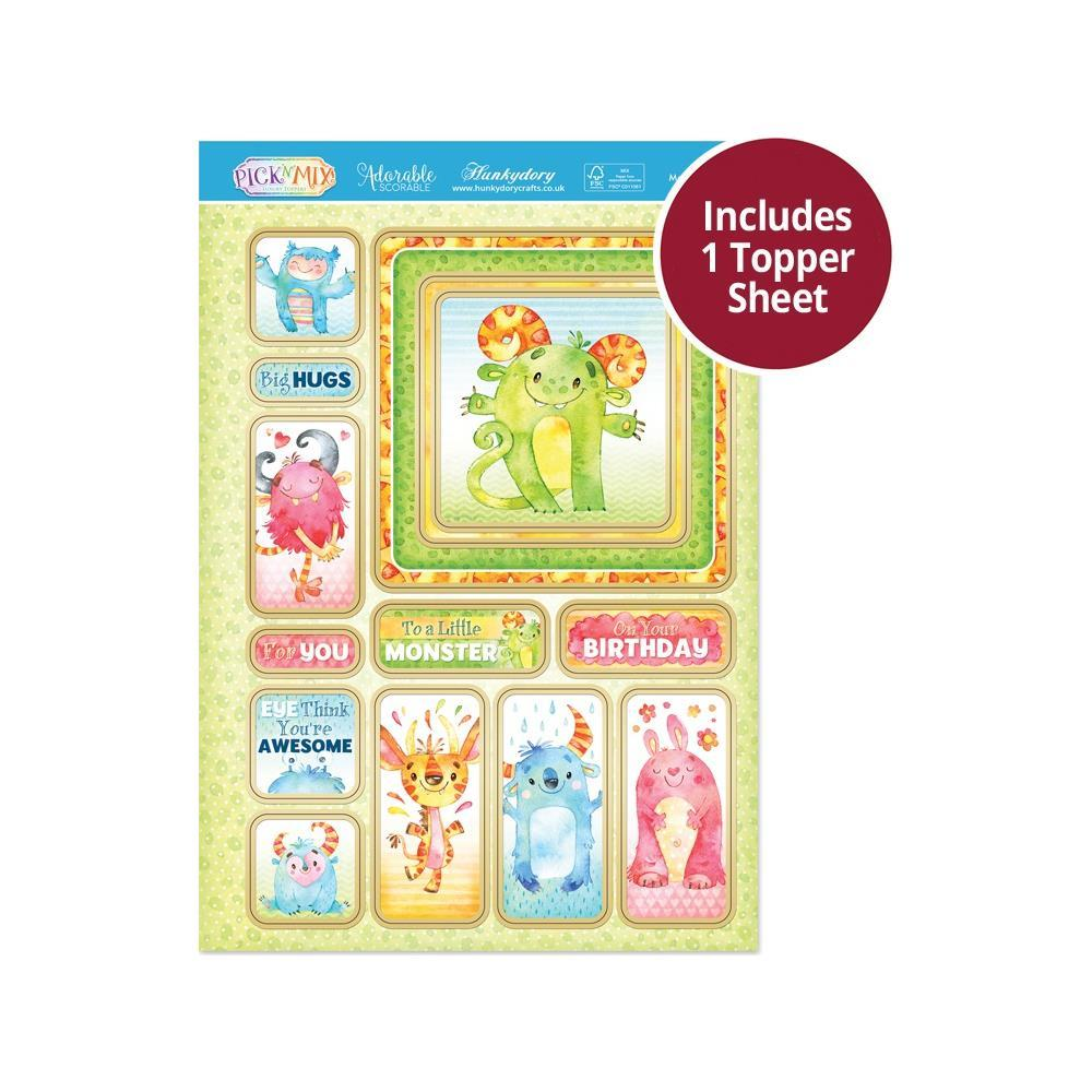 Hunkydory - Pick 'N' Mix - Luxury A4 Topper Set - Monster Hugs