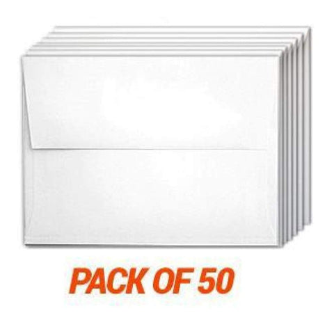 Poppy Crafts A2 White Envelopes 50 Pack