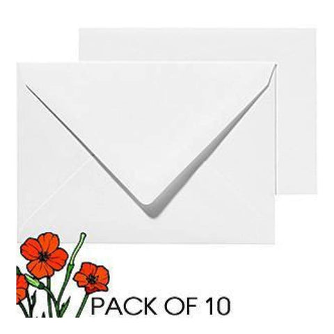 Poppy Crafts A6 Cards And Envelopes - White 20 pcs