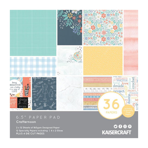 Kaisercraft Crafternoon Paper Pad 6.5in x 6.5in