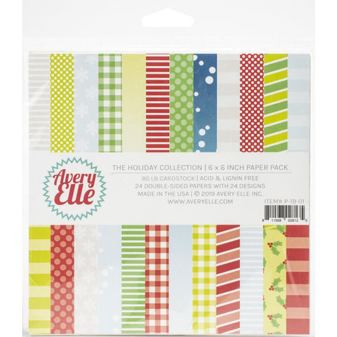 Avery Elle - D/Sided Paper Pad 6x6 inch 24 pack - The Holiday Collection