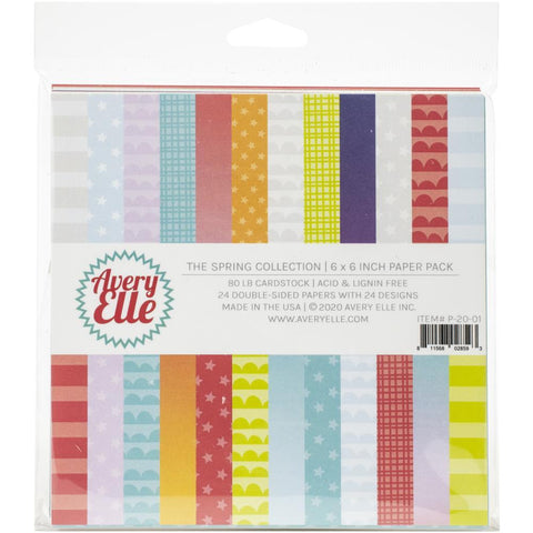 Avery Elle Double-Sided Paper Pad 6X6 24 pack The Spring Collection