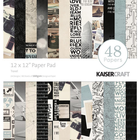 Kaisercraft Paper Pad 12x12 inch 48 pack - Travel