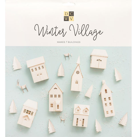 DCWV Paper Projects Winter Village - Makes 7 Buildings