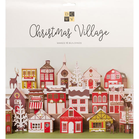 DCWV Paper Projects Christmas Village - Makes 16 Buildings
