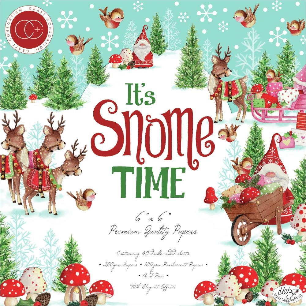 Craft Consortium Double-Sided Paper Pad 6in x 6in 40 pack - It's Snome Time