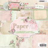 Studio Light - Paper Pad 6 inches X6 inches  36 pack -  Lovely Moments, 9 Designs/4 Each. Nr. 123