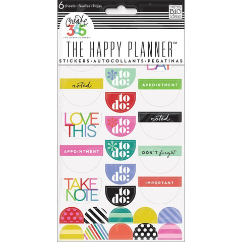 Me & My Big Ideas - Happy Planner Stickers 6/Sheets - To Do, Brights