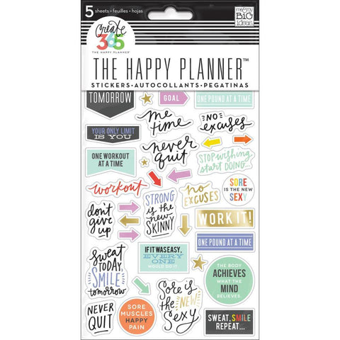 Me & My Big Ideas - Happy Planner Stickers 5/Sheets - Fitness