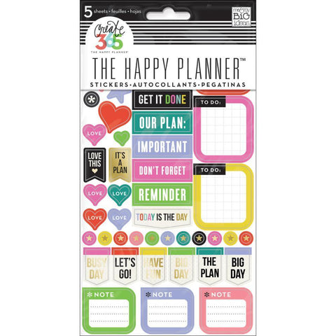 Me & My Big Ideas - Happy Planner Stickers 5/Sheets - Everyday Reminders