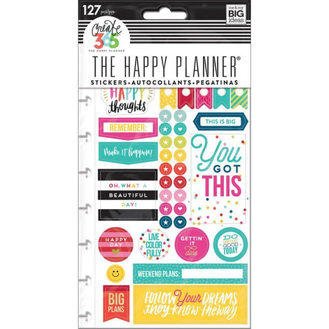Me & My Big Ideas - Happy Planner Stickers 5/Sheets Happy Brights - Classic