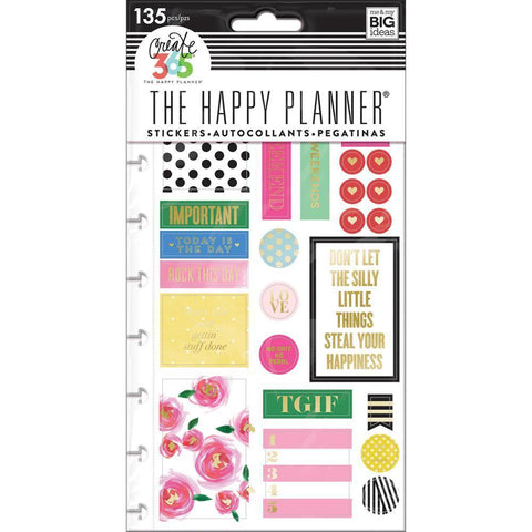 Me & My Big Ideas - Happy Planner Stickers 5/Sheets - Make It Happen - Classic