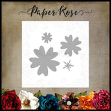 Paper Rose Studio Metal Cutting Die - Flower Set 2 16766