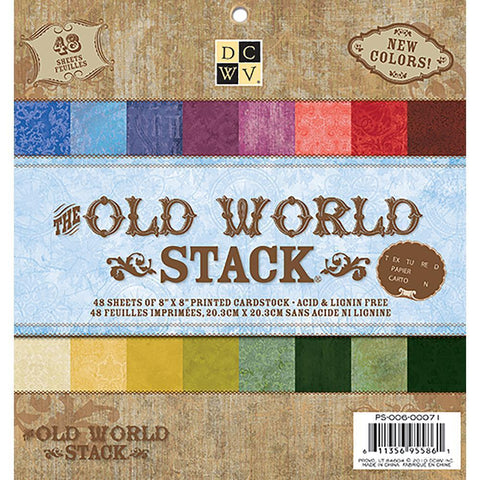 DCWV S/S Paper Stack 8x8 inch 48 pack - Old World
