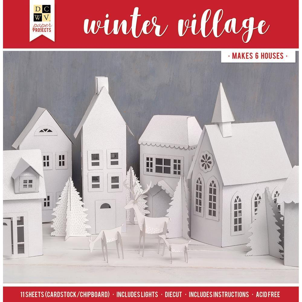 DCWV Paper Projects - Winter Village - Makes 6 Houses