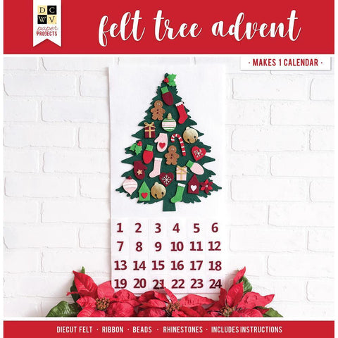 DCWV Paper Projects - Tree Advent Calendar - Makes 24 Days