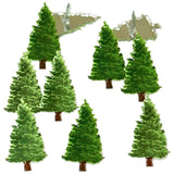 Eyelet Outlet Shape Brads 12 pack - Pine Tree