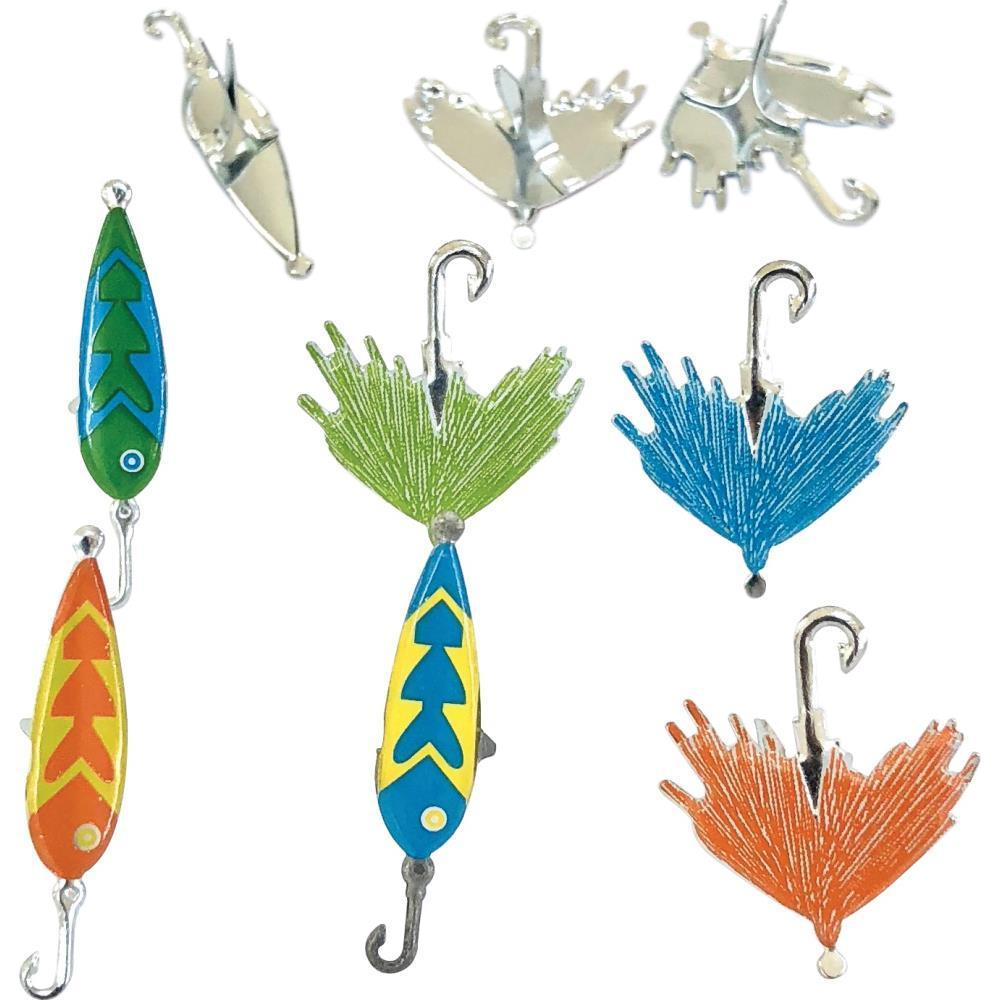 Eyelet Outlet Shape Brads 12 pack - Fishing Lure