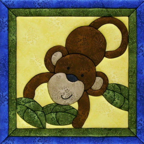Quilt-Magic No Sew Wall Hanging Kit - Monkey