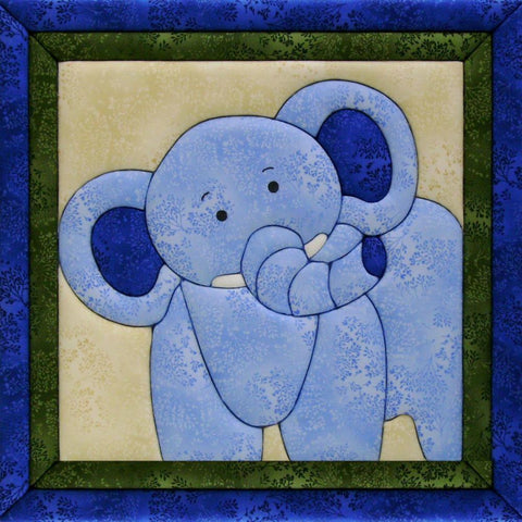 Quilt-Magic No Sew Wall Hanging Kit - Elephant