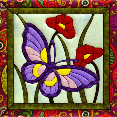Quilt-Magic No Sew Wall Hanging Kit - Butterfly