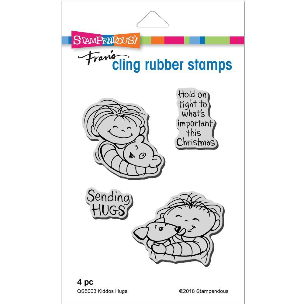 Stampendous Cling Stamp - Kiddos Hugs