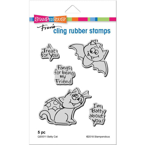 Stampendous Cling Stamp - Batty Cat