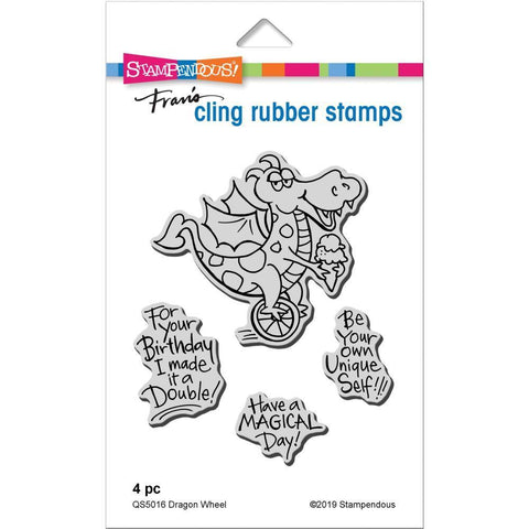 Stampendous Cling Stamp - Dragon Wheel