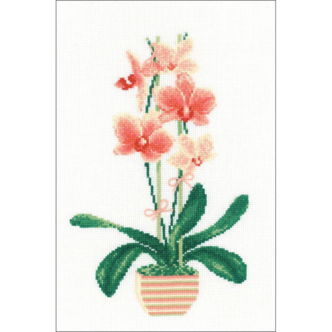 RIOLIS Counted Cross Stitch Kit 8.25 inch X11.75 inch Yellow Orchid (14 Count)