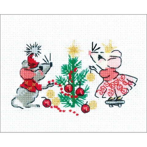 RIOLIS Counted cross-stitch Kit 6.25in x 5in Waiting For A Holiday (14 counts)
