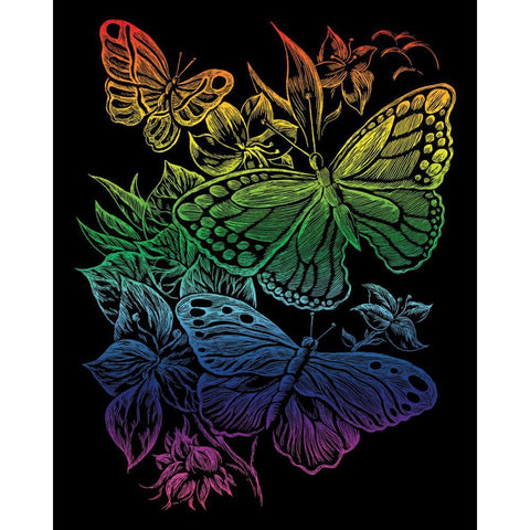 Royal Brush - Rainbow Foil Engraving Art Kit 8 inch X10 inch - Butterflies