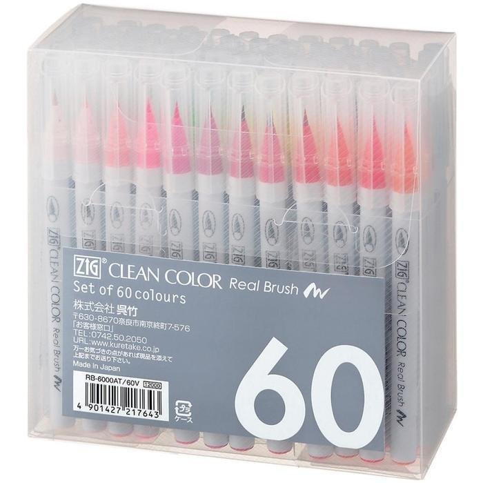 Zig Clean Color Real Brush Markers 60 pack