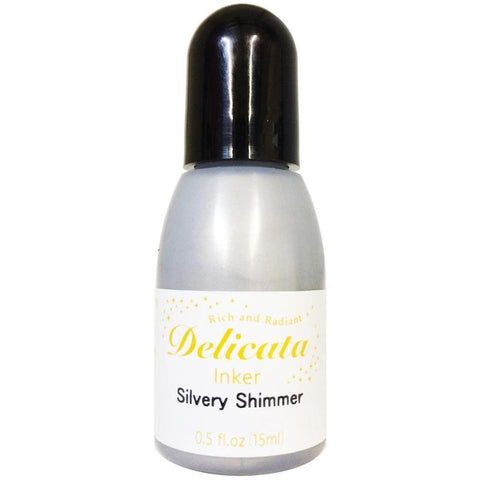 Delicata Pigment Ink Re-Inker - Silvery Shimmer (15Ml)