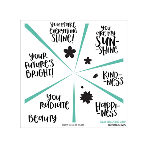 Concord & 9th Clear Stamps 6x6 inch - Sunshine Turnabout