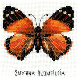 RIOLIS Counted Cross Stitch Kit 5 inch X5 inch Nymphalidae Butterfly (14 Count)