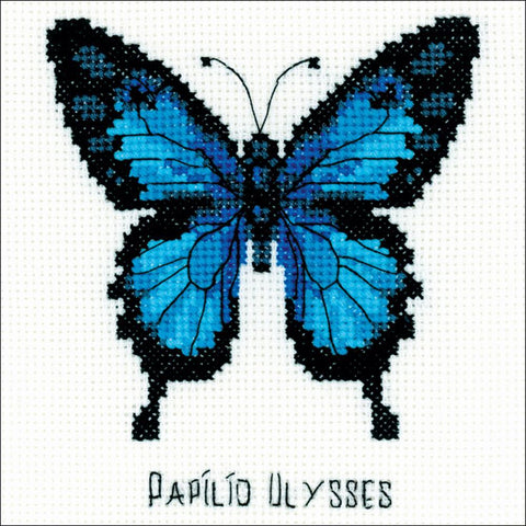 RIOLIS-Counted Cross Stitch Kit 5 inch X5 inch - Ulysses Butterfly (14 Count)