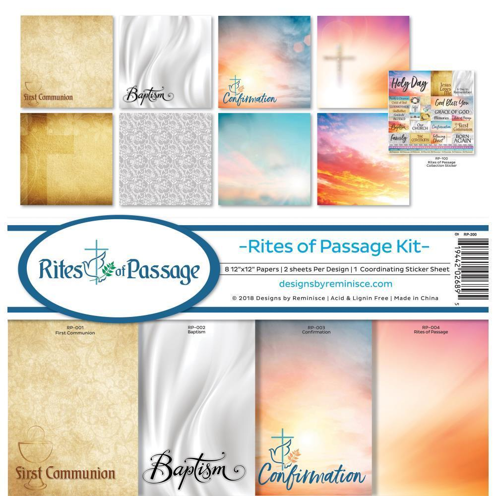 Reminisce Collection Kit 12x12 inch - Rites Of Passage