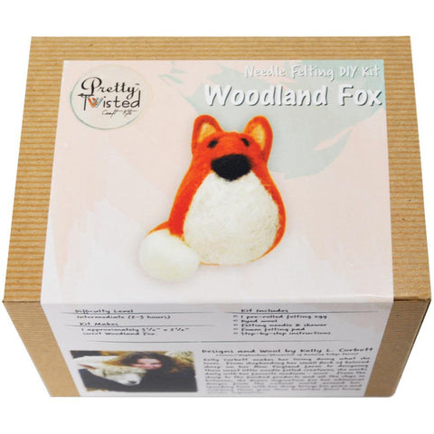 Pretty Twisted Kelly L. Corbett Needle Felting DIY Kit - Fox