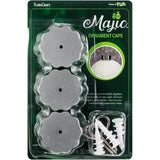 Majic Ornament Caps 2x1 inch 3 pack - Silver