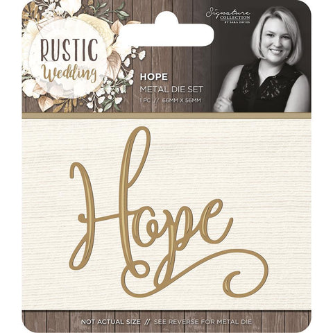 Crafters Companion - Rustic Wedding Die - Hope