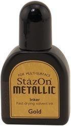 Stazon Metallic Re-Inker - Gold 15Ml