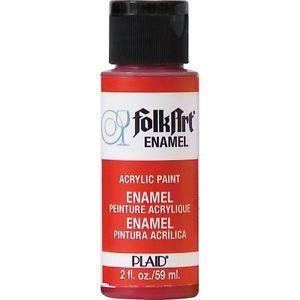 FolkArt Enamel Paint 2oz - Engine Red