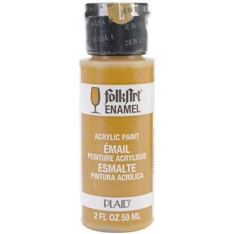 FolkArt Enamel Paint 2oz - Yellow Ochre