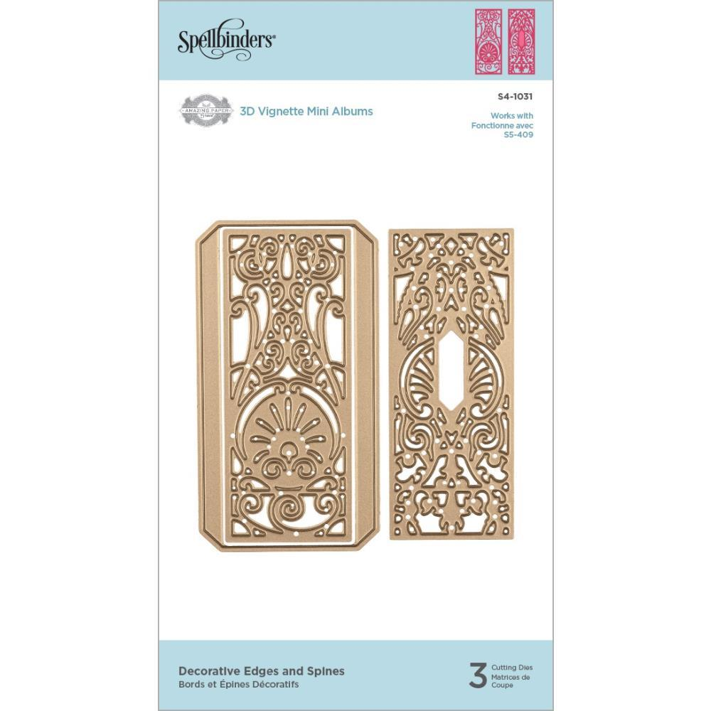 Spellbinders Shapeabilities Dies By Becca Feeken - Decorative Edges & Spines