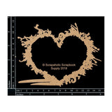 Scrapaholics Laser Cut Chipboard 1.8mm Thick Heart Splatter Frame, 6in x 4.5in