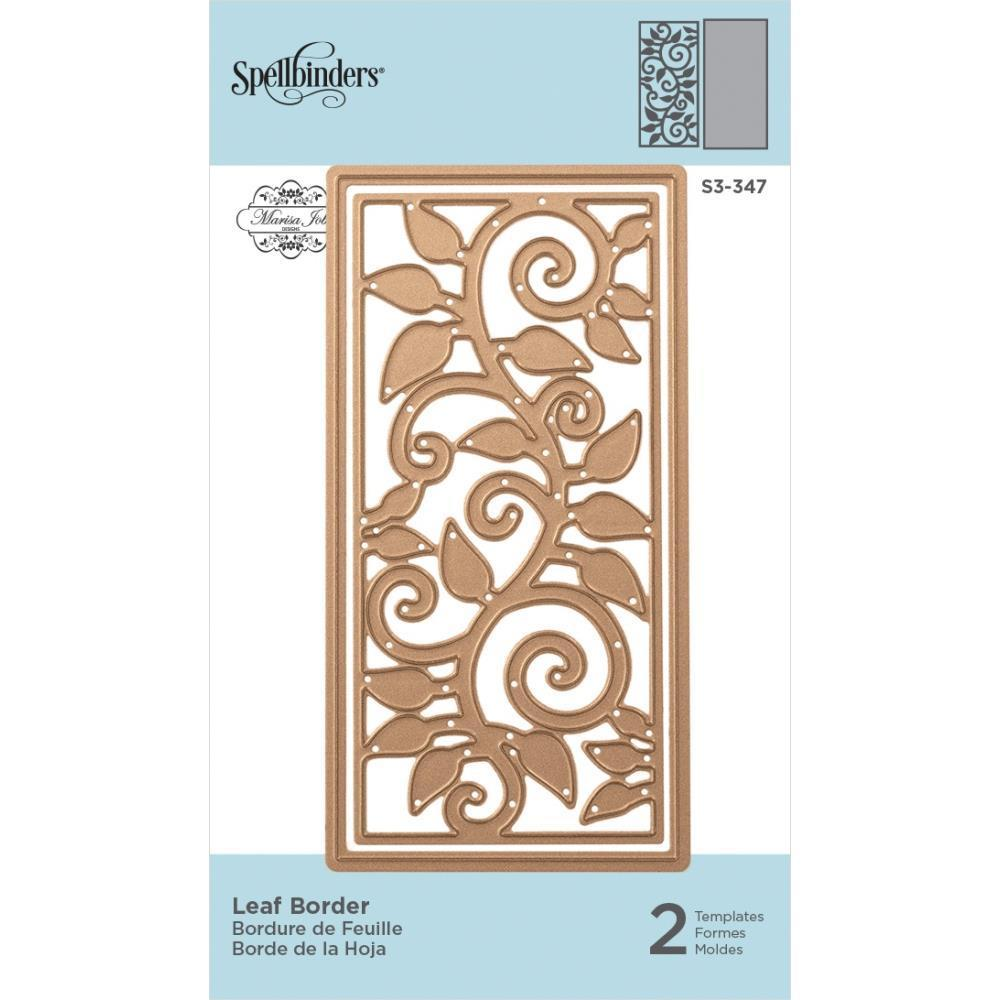 Spellbinders Shapeabilities Die D-Lites By Marisa Job - Leaf Border 3.95 inchX1.90 inch